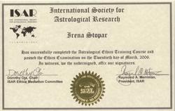 Irena Stopar - astrološka etika
