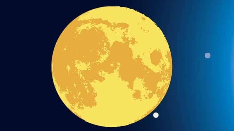 Polna luna - Luna opozicija Sonce
